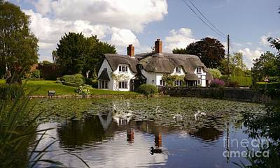 Cottage With Duck Pond Original by John Chatterley