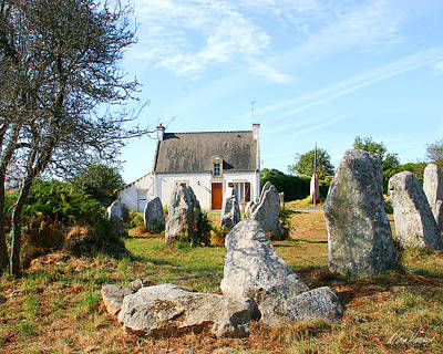 Photograph - Cottage With Standing Stones by Diana Haronis