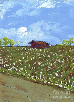 Cotton Field Two Art Print