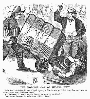 Dolley Photograph - Cotton Loan Cartoon, 1865 by Granger