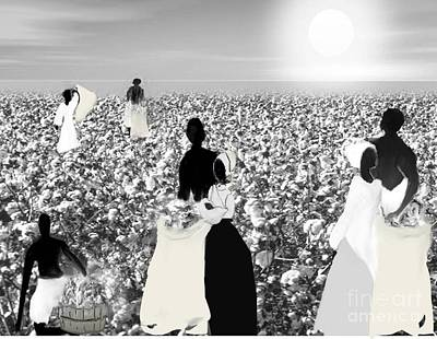 Digital Art - Cotton Picking by Belinda Threeths