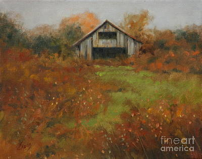 Country Autumn Art Print by Linda Eades Blackburn