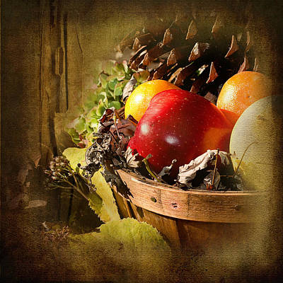 Photograph - Country Basket Of Fruit by Trudy Wilkerson