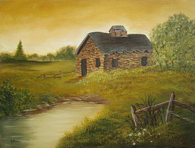 Painting - Country Cabin by Kathy Sheeran