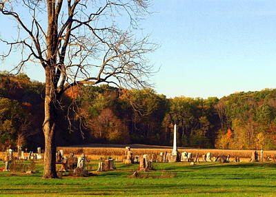 Country Cemetery Art Print by Mike Stanfield