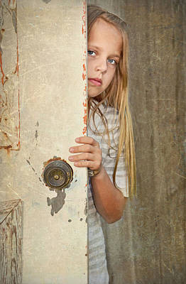 Youngsters Mixed Media - Country Child by Maria Dryfhout