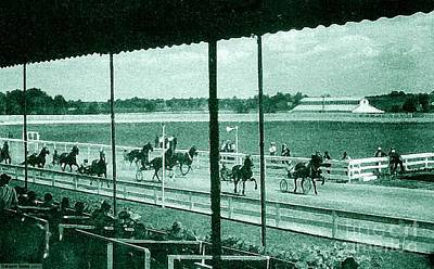 Painting - Country Club And Racetrack In Langhorne Pa Around 1920 by Dwight Goss