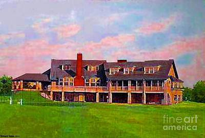 Painting - Country Club In Akron Oh In 1910 by Dwight Goss