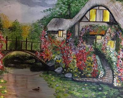 Painting - Country Cottage Retreat by Denise Hills