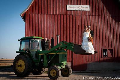 Country Farm Wedding Print by Sidney Dumas