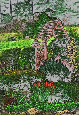 Drawing - Country Gardens by Debra     Vatalaro