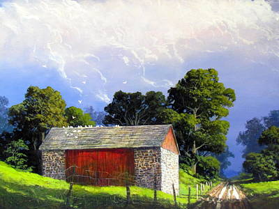 Painting - Country Landscape by Milan Melicharek