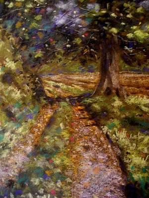 Country Lane Art Print by John  Nolan