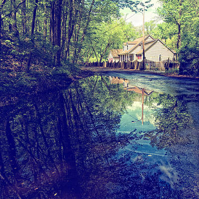 Lkg Photograph - Country Lane Reflections by Laura George