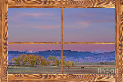 Photograph - Country Peaceful Morning Wood Picture Window Frame Photo Art by James BO  Insogna