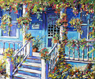 Country Porch And Flowers By Prankearts Original by Richard T Pranke