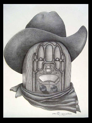 Country Radio Art Print by Diana Lehr