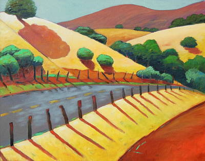 Warm Colors Painting - Country Road Late by Gary Coleman