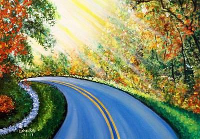 Country Road Art Print by Usha Rai