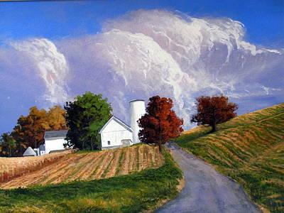 Painting - Country Scene by Milan Melicharek