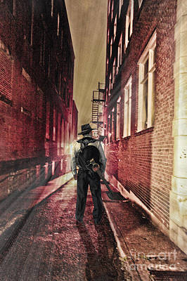 Photograph - Country Singer In Alley by Dan Friend