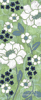 White Flowers Painting - Country Spa Floral 2 by Debbie DeWitt