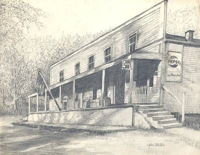 Country Store Drawing - Country Store by Charles Hester
