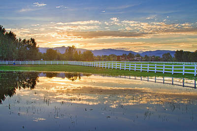 Country Sunset Reflection Art Print by James BO  Insogna
