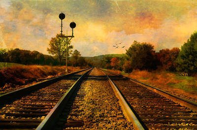 Country Tracks Art Print by Kathy Jennings