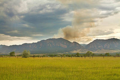 Photograph - Country View Of The Flagstaff Fire by James BO Insogna