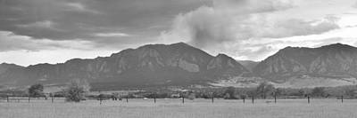 Photograph - Country View Of The Flagstaff Fire Panorama Bw by James BO Insogna