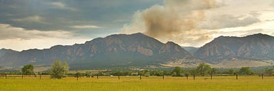 Photograph - Country View Of The Flagstaff Fire Panorama by James BO  Insogna