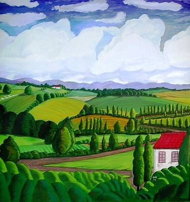 Villa Painting - Country Villa by Ray Ratzlaff