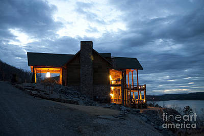 Countryside Hotel Overlooking A Lake Art Print by Will and Deni McIntyre