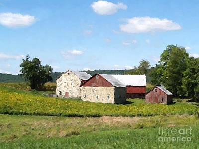 Digital Art - County Line Farm by Denise Dempsey Kane