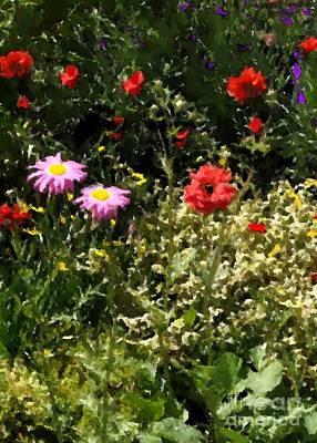 County Line Garden Art Print