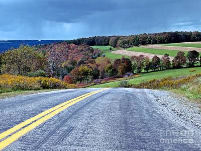 Art Print featuring the photograph County Road by Christian Mattison