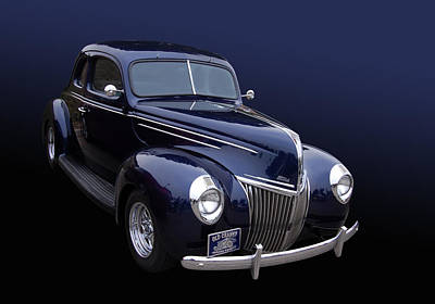 39 Ford Photograph - Coupe 39 by Bill Dutting