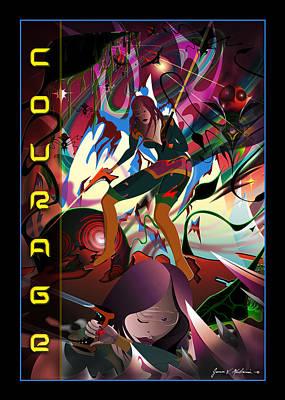 Digital Art - Courage by James Mulvania