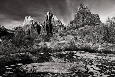 Photograph - Court Of The Patriarchs - Bw by Christopher Holmes