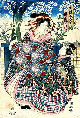 Tsuru Photograph - Courtesan Kashiku 1810 by Padre Art