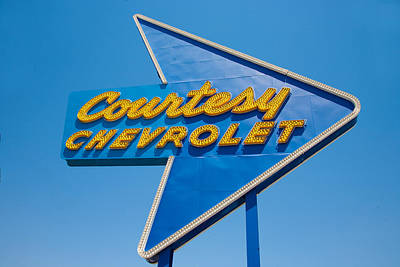 Retro Wall Art - Photograph - Courtesy Chevrolet by Matthew Bamberg