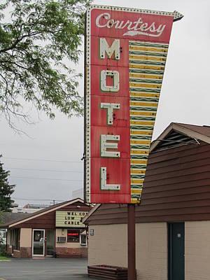 Photograph - Courtesy Motel by Todd Sherlock