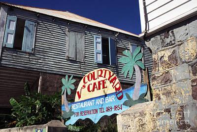 Nevis Photograph - Courtyard Cafe by Thomas R Fletcher