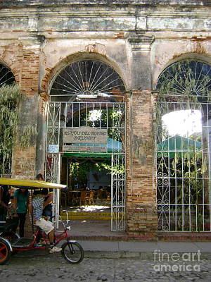 Courtyard Restaurant Trinidad Cuba Art Print by Laurel Fredericks