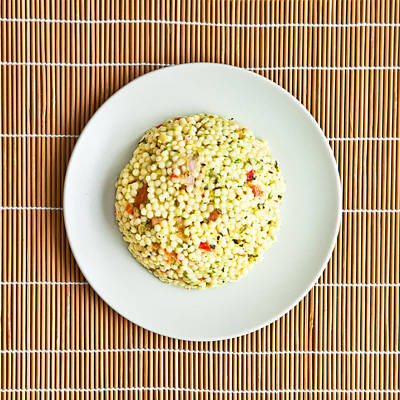 Wooden Platters Photograph - Cous Cous Salad by Tom Gowanlock
