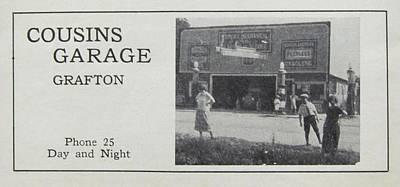 Cousins Garage Ca 1931 Art Print by Grafton Ontario