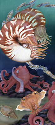 Cuttle Painting - Cousins by Marcia  Perry
