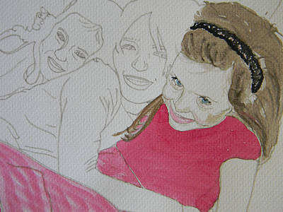 Cousins Portrait 1 Of 3 Art Print