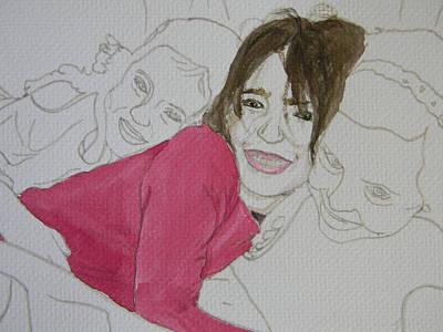 Cousins Portrait 2 Of 3 Art Print